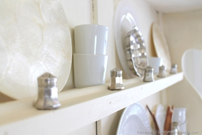 White, beige and silver fall decor