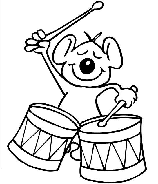 La Musica Y Los Animales Dibujos Para Colorear De Animales