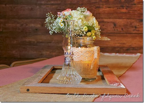 ball jar wedding centerpiece