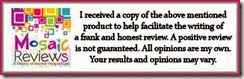 Mosaics Review Disclaimer