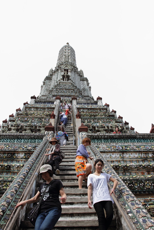Steep Flight of Stairs that lead to the top of Wat Arun
