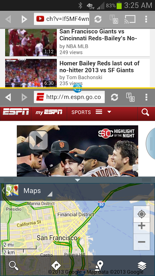 Split Browser with Chromecast - screenshot