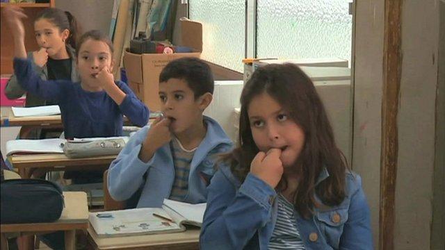 В школе на острове Гомера
