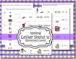 Spelling Letter Sound A