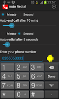 Screenshot of Auto Redial | call timer