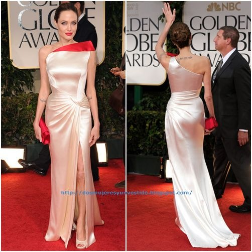 Angelina Jolie arrives at the 69th Annual Golden Globe Awards-a