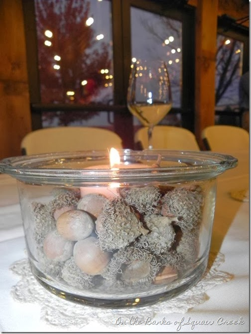 wedding centerpiece acorns