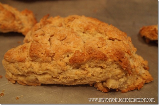 @mvemother Peanut Butter and Banana Scones