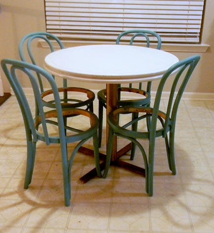 kitchen table and bentwood chairs