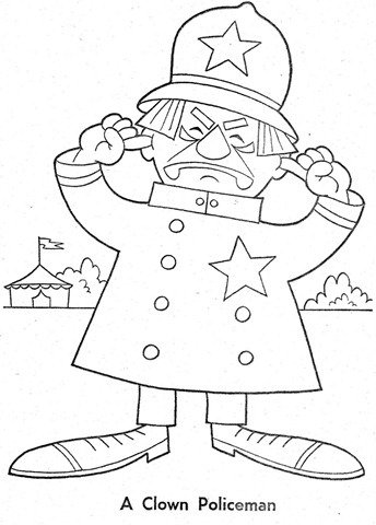 palhaço-colorir-Clowns To Color-coloring page-00014