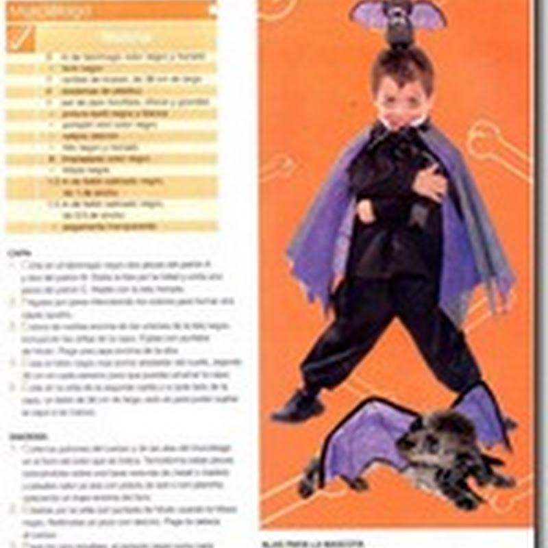 Patrones disfraz de murciélago para niño