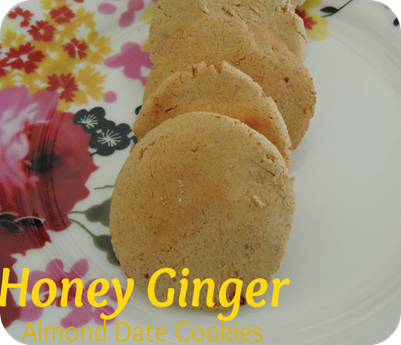 Honey Ginger Almond Date Cookies
