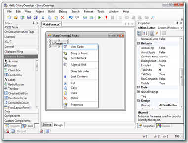 SharpDevelop – Free Visual Studio Alternative IDE