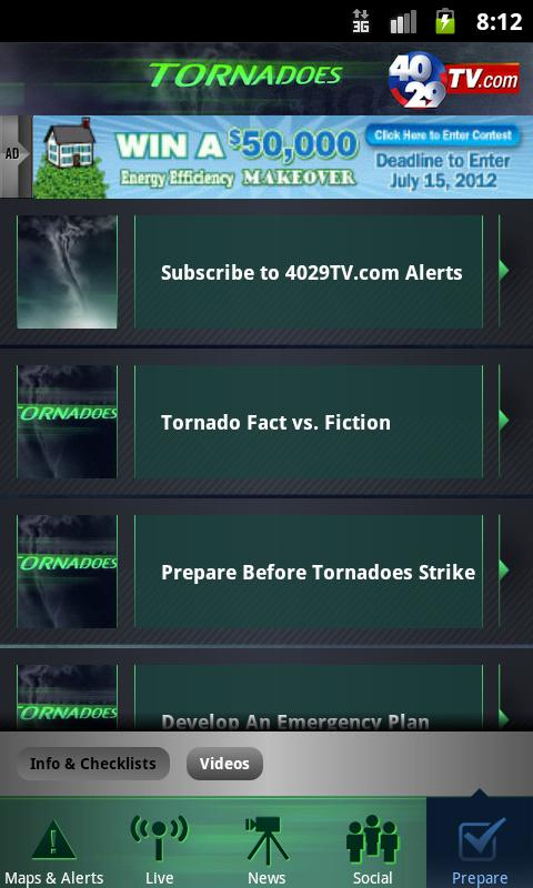 40/29 Tornadoes - Northwest AR - screenshot