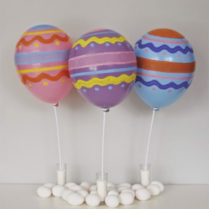 Pascua  globos decorados como huevos
