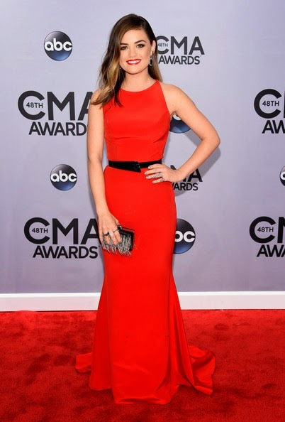 Lucy Hale attends the 48th annual CMA Awards