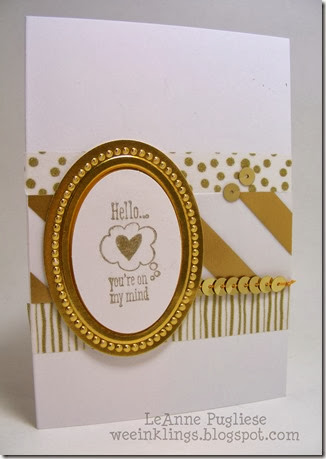 LeAnne Pugliese WeeInklings Gold Love You to the Moon Stampin UP
