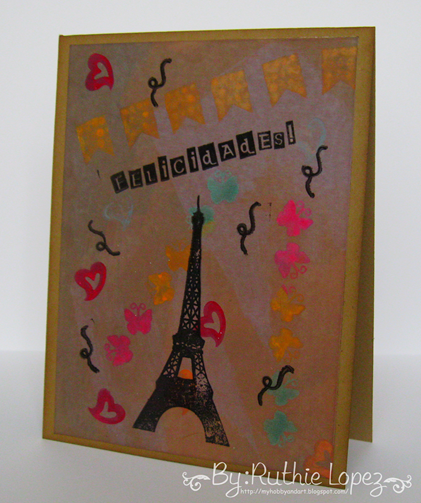 Color Paws - Vintage Card - Paris Card - Ruthie Lopez DT - My Hobby = My  Art 2