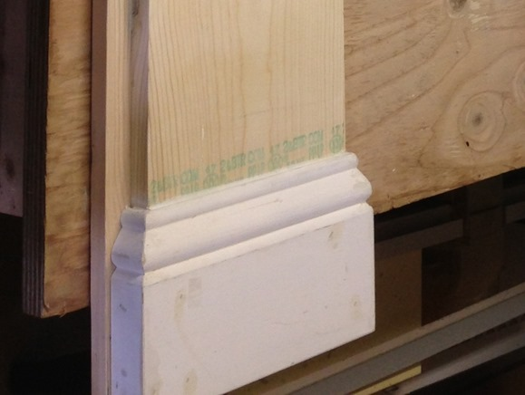 Mantel base trim detail 6