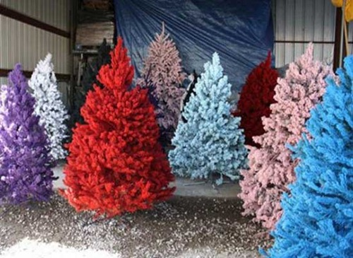 Unique-and-Unusual-Colorful-Artificial-Synthetic-Christmas-Tree-Design-Funky-Design