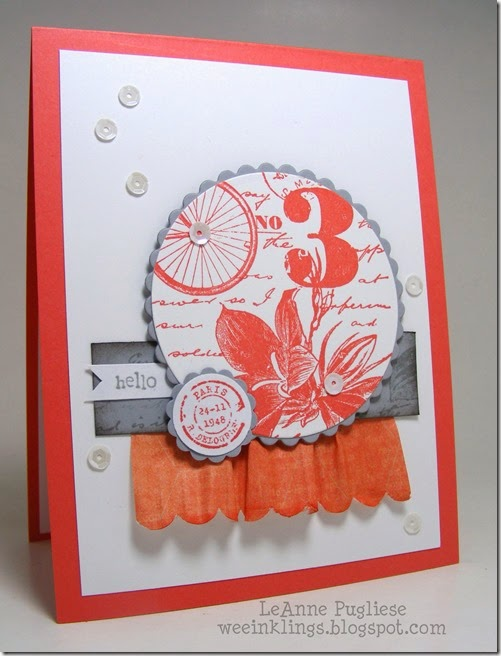 LeAnne Pugliese WeeInklings Postage Due Stampin Up