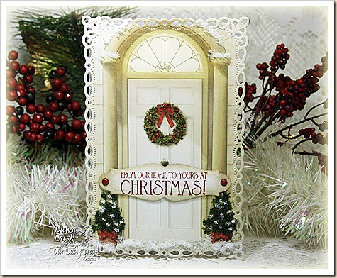 Flower Soft, Christmas Traditional Door Topper, Our Daily Bread designs