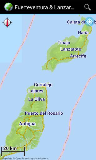 Map: Fuerteventura Lanzarote
