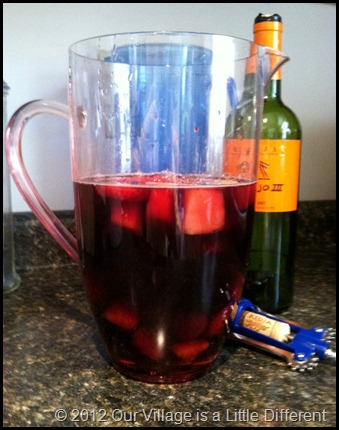Sangria, step one