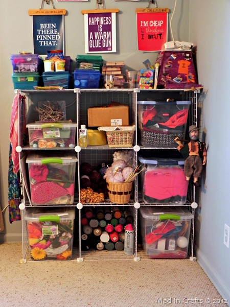 craft room cubbies