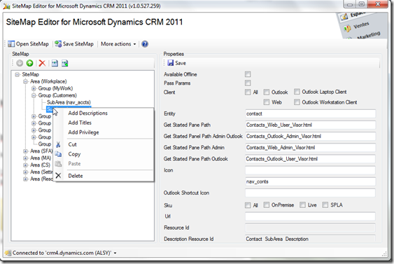 Dynamics CRM Tools: New tool: SiteMap Editor for Microsoft