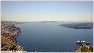 Вид на кальдеру. Остров Санторини. Греция.