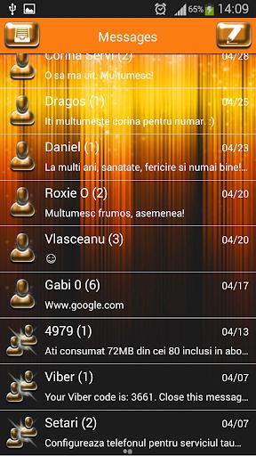 GO SMS Proのスターライト