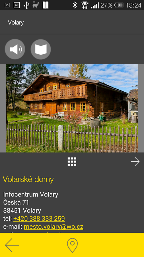 Volary - audio tour- screenshot