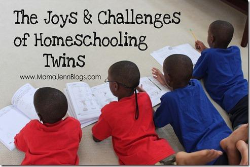 Joys & Challenges of Homeschooling Twins