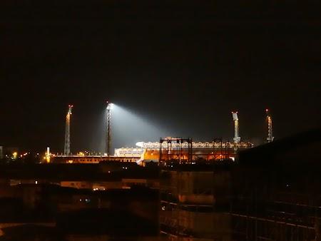 Stadionul Ceahlaul in nocturna