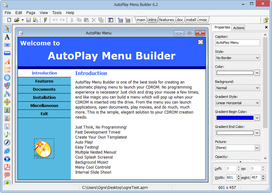 Load autoplay menu builder v4 2 crack filepc for Autoplay menu builder templates