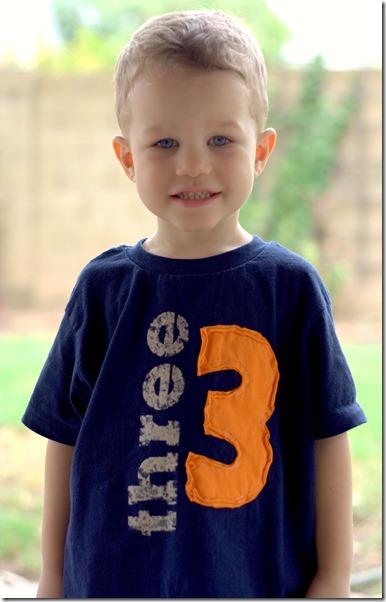 Third Birthday Shirt 3 Years Old 12192013a Boys