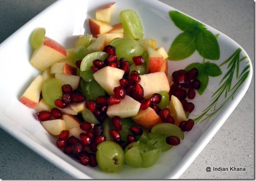 Fruit Salad with Dahi phalhar ratia navratri recipe