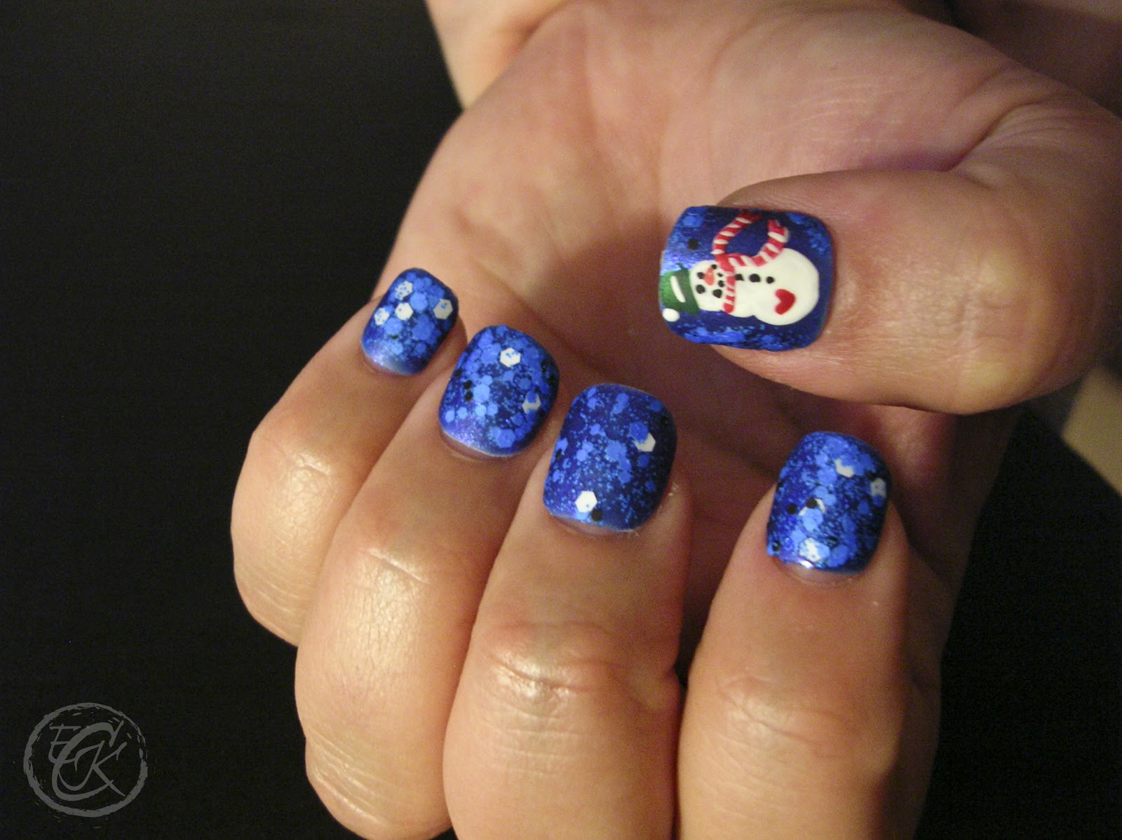 ecklipsed by color on the fourth day of christmas my nail art gave