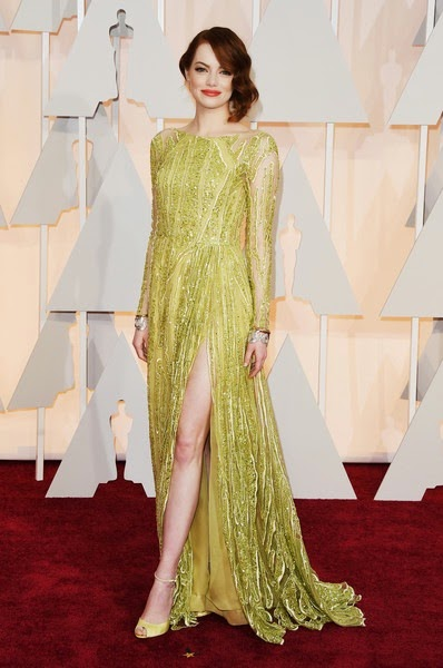 Emma Stone attends the 87th Annual Academy Awards