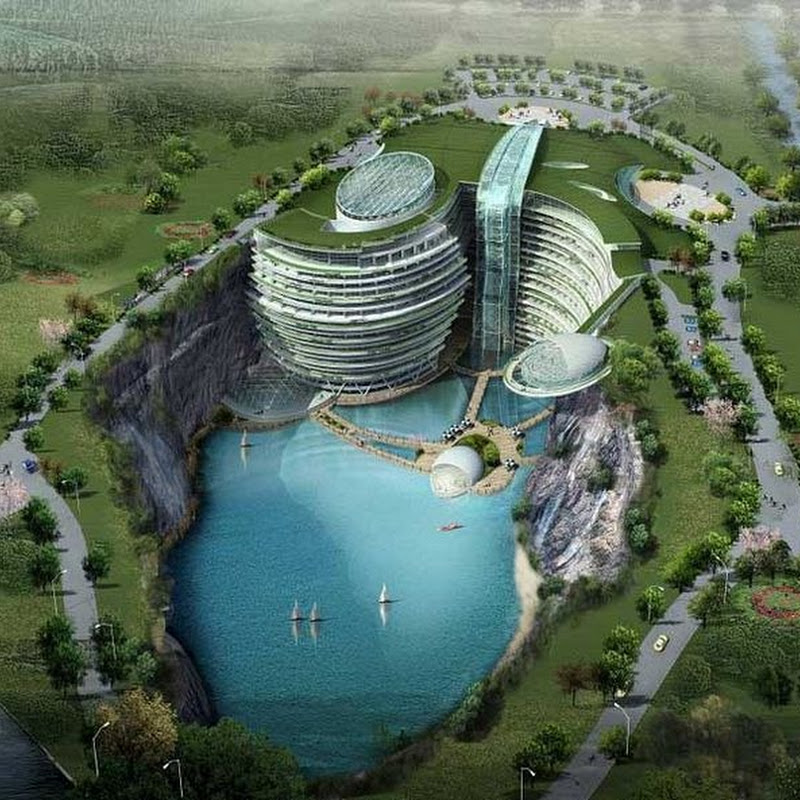 Construction of an Amazing Underground Hotel in Songjiang Begins