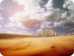 Photo manipulation of 02_desertification 197_nature_and_city