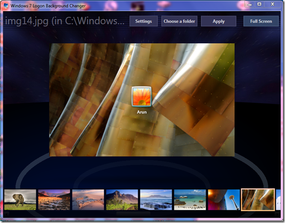 Windows 7 Logon Background Changer 1.5.2 Free Download