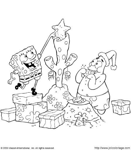 Imagenes De Bob Esponja En Navidad Para Colorear Bob Esponja En Navidad