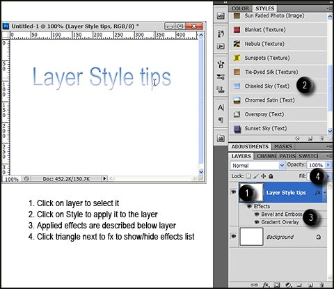 how to use layer styles in photoshop cs6