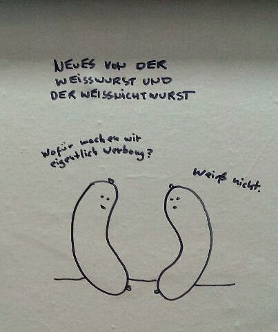 weisswurst cartoon