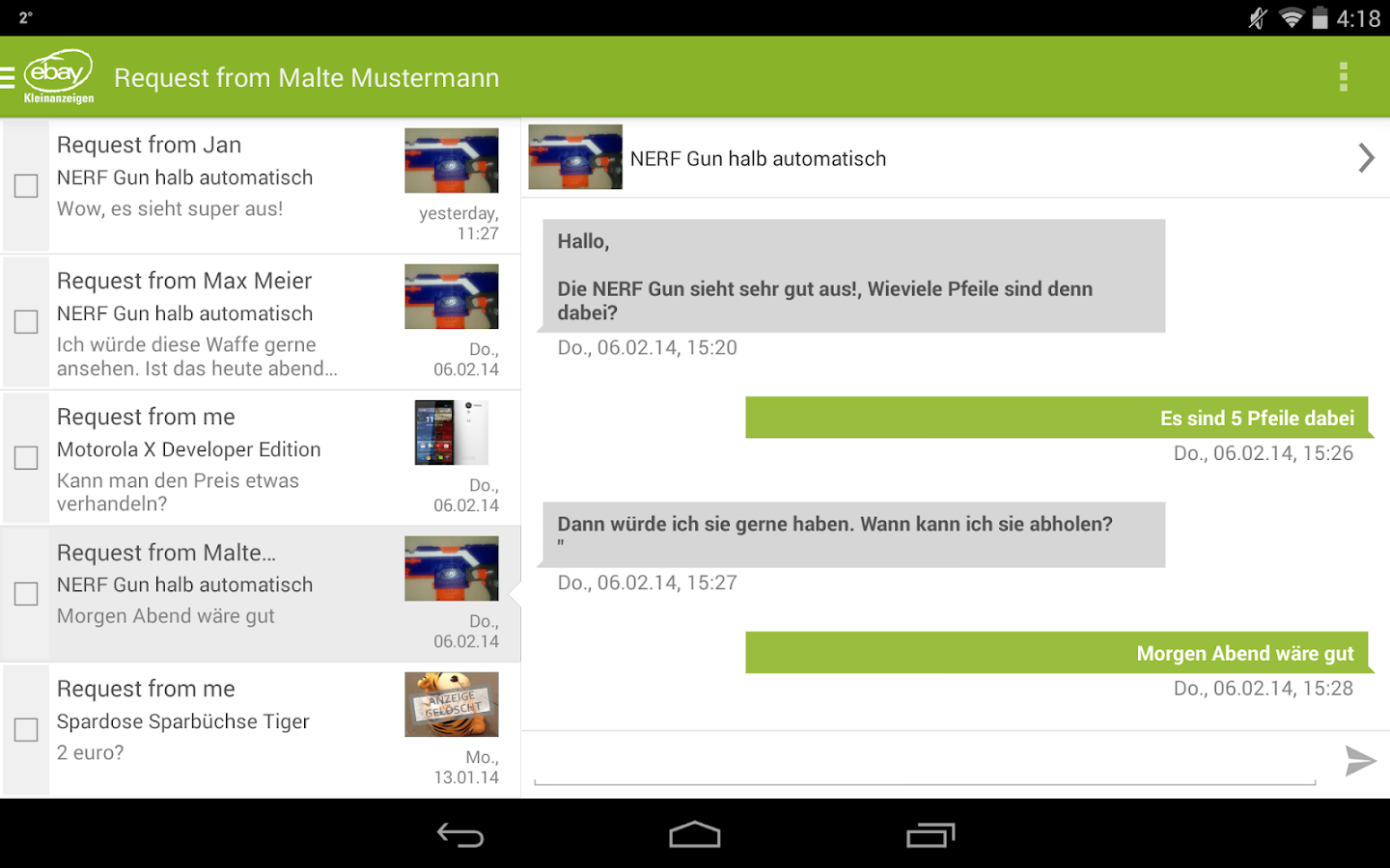 eBay Kleinanzeigen for Germany - screenshot