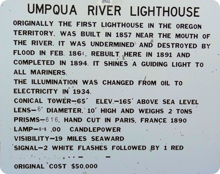 Description of Umpqua Lighthouse