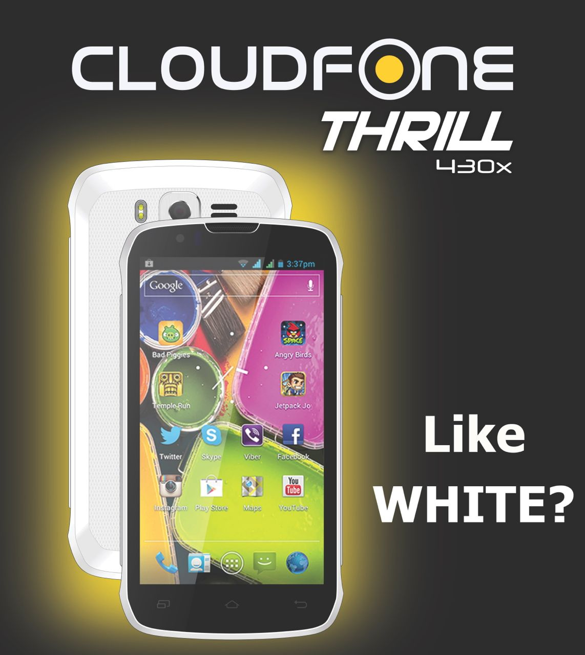 cloudfone thrill 430x white