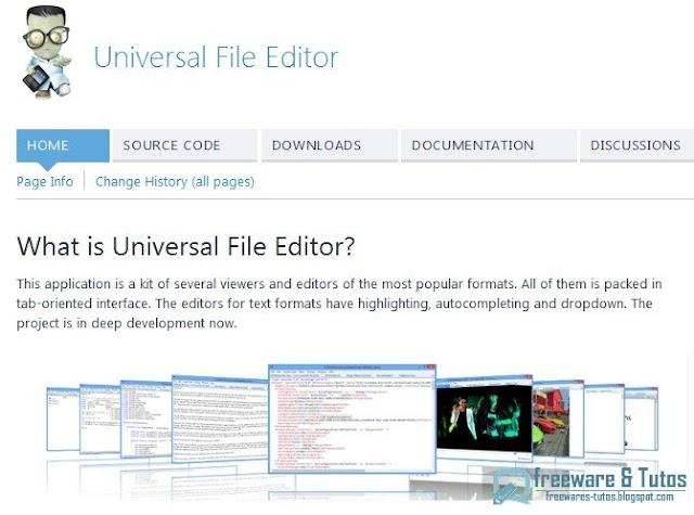 Universal File Editor : un logiciel pratique pour lire et éditer de nombreux formats de fichiers